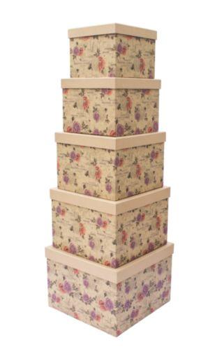 Набор подарочных коробок Hobby&You Крафт розы, 8 штHY00702
