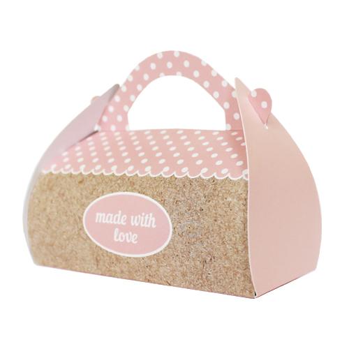 Подарочная коробочка Саквояж Hobby&You Made With Love Pink, 2 штHY00925