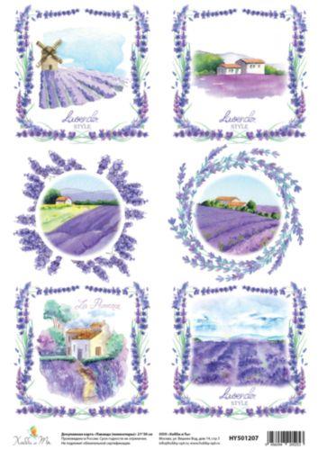 Декупажная карта Hobby&You Лаванда (миниатюры), 21 х 30 смHY501207