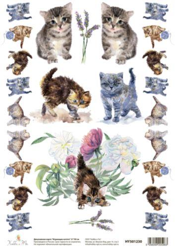 Декупажная карта Hobby&You Играющие котята, 21 х 30 смHY501230Создавайте шедевры своими руками!С помощью декупажной карты Hobby&You Играющие котята можно быстро, просто и стильно украсить любые предметы интерьера, сувениры или подарки, сделав их по-настоящему оригинальными и эксклюзивными. Она отлично подойдет для декупажа как больших, так и маленьких поверхностей, сохранив при этом свой насыщенный цвет. Дополнительно вам понадобятся только ножницы, кисть и клей (обычный ПВА или специальный для декупажа).Размер: 21 х 30 см.