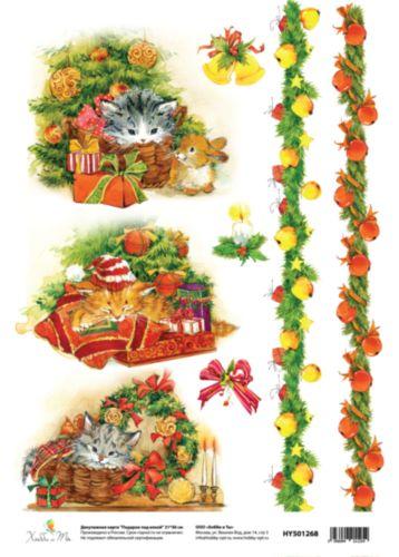 Декупажная карта Hobby&You Подарок под елкой, 21 х 30 смHY501268