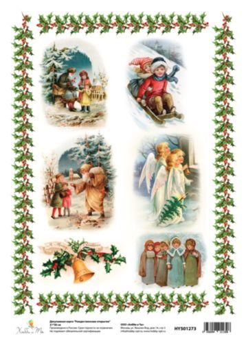 Декупажная карта Hobby&You Рождественские открытки, 21 х 30 смHY501273