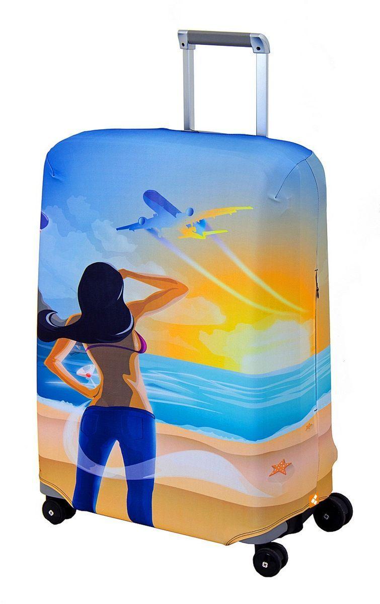 "Чехол для чемодана Routemark ""Hellow Yellow"", размер M/L (65-74 см)"