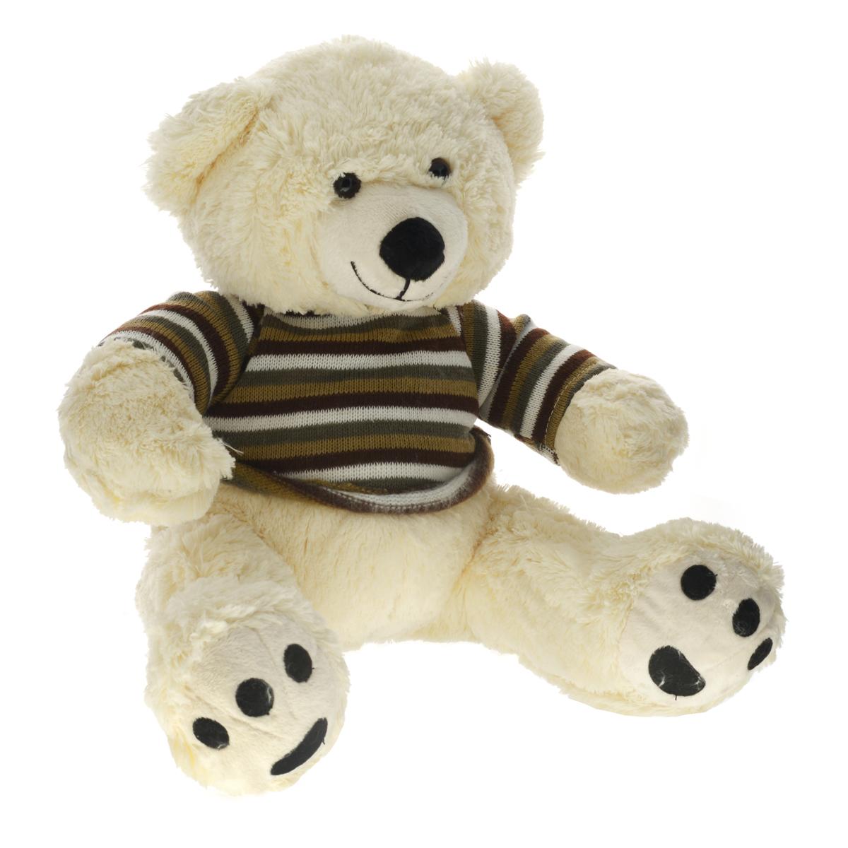 Magic Bear Toys Мягкая игрушка Мишка в свитере цвет свитера коричневый 50 см