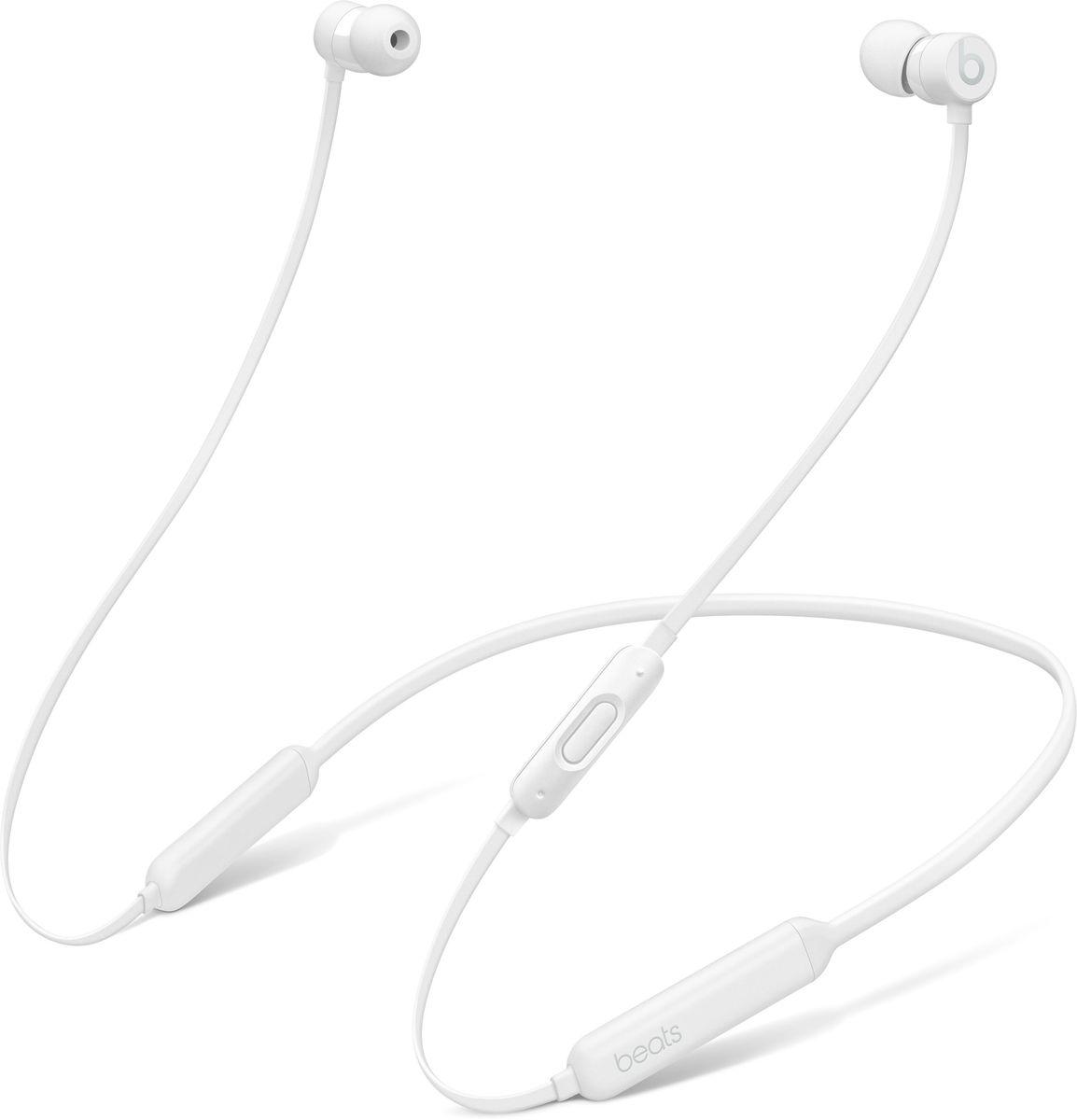 BeatsX, White наушникиMLYF2ZE/AБеспроводные наушники BeatsX станут вашим верным спутником - чем бы вы ни занимались. Чистое и естественное звучание любимой музыки будет сопровождать вас целый день - наушники могут работать без подзарядки до 8 часов. 5-минутной зарядки Fast Fuel хватит ещё на 2 часа воспроизведения. Наушники с уникальным кабелем Flex-Form можно не снимать целый день. Различные вкладыши и дополнительные крепления позволяют отрегулировать наушники так, чтобы они держались надёжно. А ещё их очень удобно носить с собой в кармане.Наушники BeatsX работают с полной отдачей. Изящные, лёгкие и компактные, они станут вашим идеальным компаньоном - и вы не запутаетесь в проводах. Включите их и поднесите к своему iPhone - они мгновенно подключатся к нему, а заодно и к вашим Apple Watch, iPad и Mac. Наушники BeatsX с технологией Bluetooth класса 1 обеспечивают наилучшее качество беспроводной связи.Чёткое воспроизведение всех частот и усовершенствованная шумоизоляция обеспечивают объёмное и естественное звучание. Инновационная акустика чисто и без искажений воспроизводит как высокие, так и низкие частоты и позволяет слушать музыку любых жанров в наилучшем качестве.Наушники BeatsX невероятно удобны - вы можете носить их целый день. Даже если вы выключите музыку и повесите их на шею, они не будут вам мешать. Уникальный гибкий кабель Flex-Form, различные вкладыши и дополнительные крепления помогут вам отрегулировать наушники так, чтобы они держались надёжно, и вам было удобно их носить. Благодаря магнитным элементам наушники не запутаются, когда вы их снимете. К тому же их легко свернуть, и они займут совсем немного места.Пульт RemoteTalk со встроенным микрофоном позволяет отвечать на звонки, управлять воспроизведением, регулировать громкость и активировать Siri. Удобные элементы управления помогут вам легко переключаться между самыми разными задачами. Чем бы вы ни занимались - беспроводные наушники BeatsX станут вашим постоянным спутником.