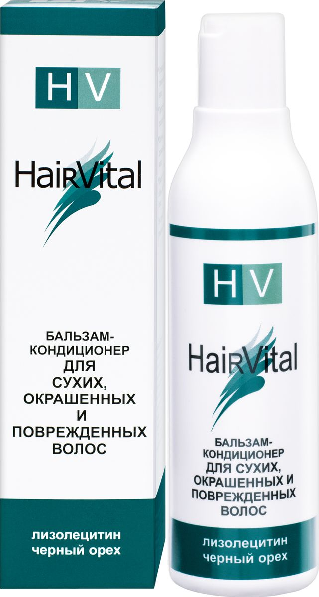 Hair Vital Бальзам-кондиционер для сухих, окрашенных и поврежденных волос, 200 мл65062• Устраняет сухость и ломкость поврежденных волос• Препятствует расщеплению кончиков• Облегчает расчесывание и укладку волос• Придает волосам объем, эластичность и блеск• Не склеивает и не утяжеляет волосыАктивные компоненты: экстракт черного ореха, лизолецитин, витамин Е