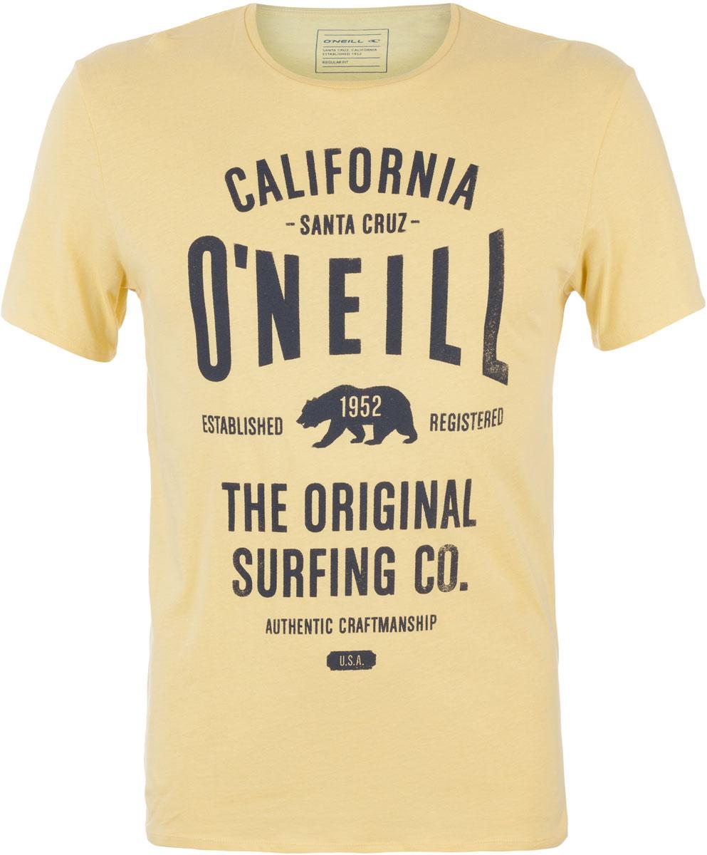 Футболка мужская ONeill Lm Muir T-Shirt, цвет: желтый. 7A3657-2045. Размер S (46/48)7A3657-2045Футболка мужская ONeill выполнена из 100% хлопка. Модель имеет стандартный крой, короткий рукав и круглый вырез горловины. Футболка дополнена надписями.