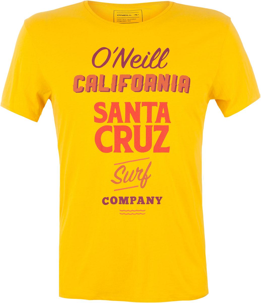 Футболка мужская ONeill Lm Logo Art T-Shirt, цвет: желтый. 7A3660-2046. Размер L (50/52)7A3660-2046Футболка мужская ONeill выполнена из 100% хлопка. Модель имеет стандартный крой, короткий рукав и круглый вырез горловины. Футболка дополнена надписями.