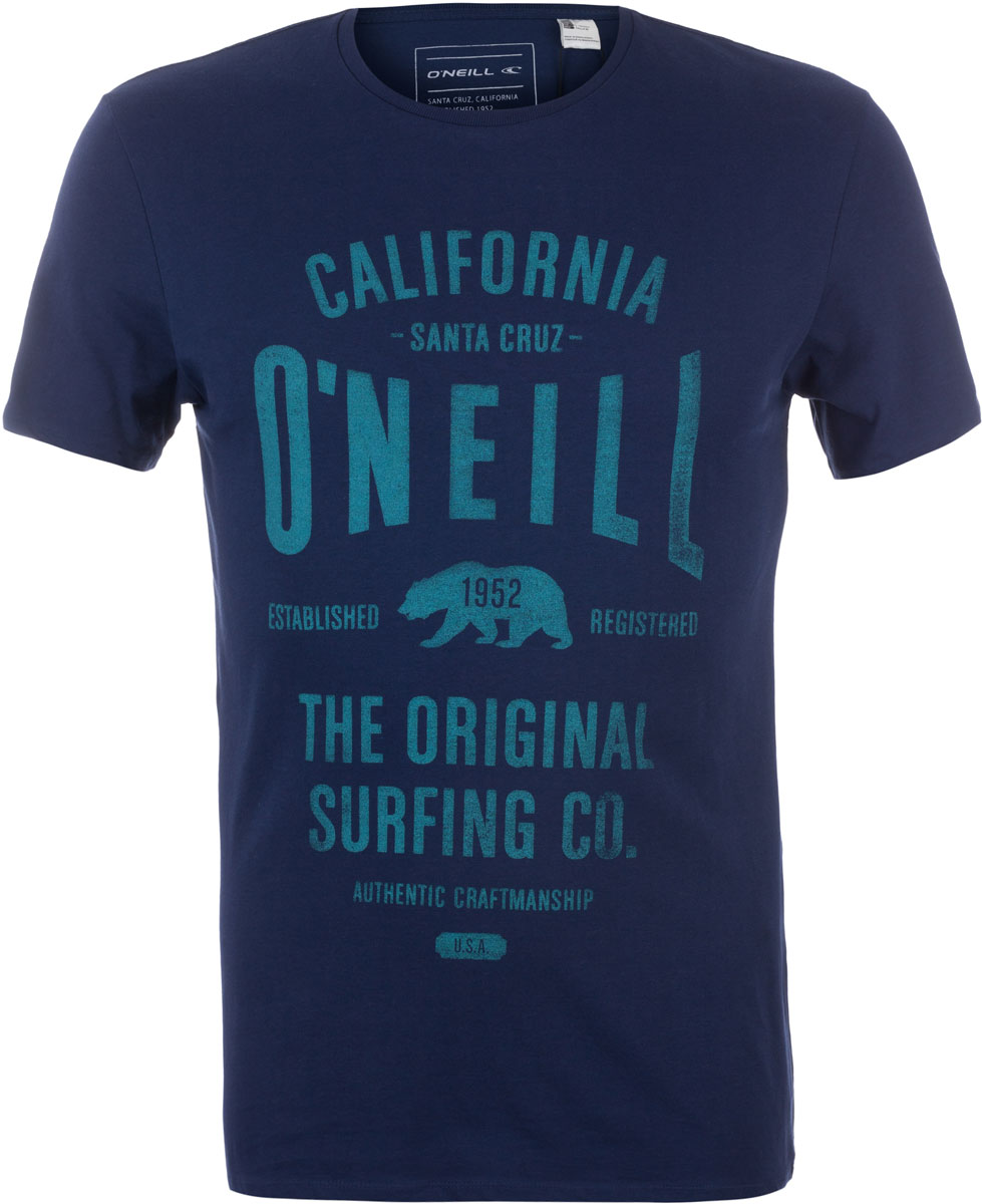 Футболка мужская ONeill Lm Muir T-Shirt, цвет: темно-синий. 7A3657-5056. Размер S (46/48)7A3657-5056Футболка мужская ONeill выполнена из 100% хлопка. Модель имеет стандартный крой, короткий рукав и круглый вырез горловины. Футболка дополнена надписями.