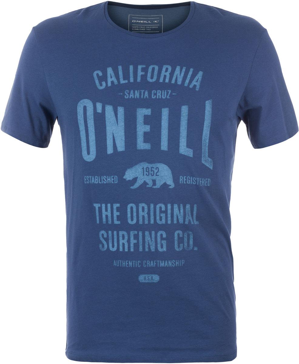 Футболка мужская ONeill Lm Muir T-Shirt, цвет: синий. 7A3657-5045. Размер XL (52/54)7A3657-5045Футболка мужская ONeill выполнена из 100% хлопка. Модель имеет стандартный крой, короткий рукав и круглый вырез горловины. Футболка дополнена надписями.