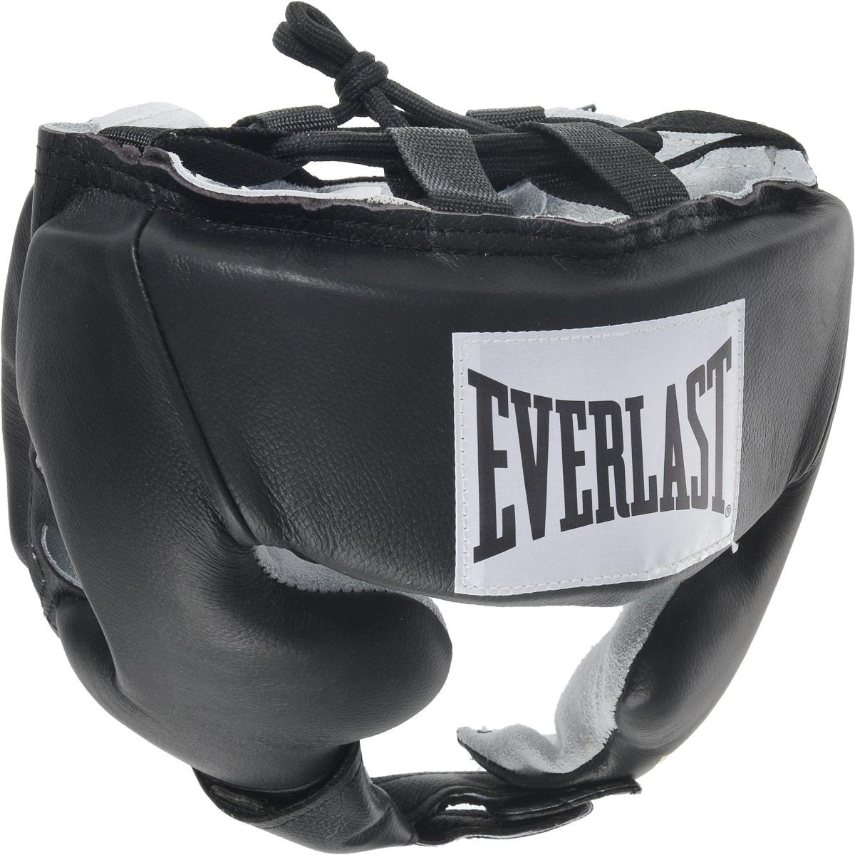 Шлем боксерский Everlast USA Boxing Cheek, с защитой щек, цвет: черный, белый. Размер XL боксерский шлем