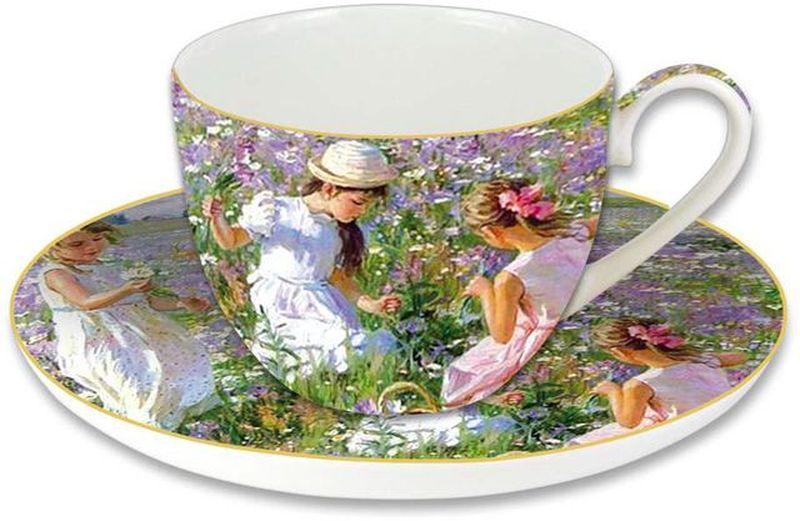 Чашка с блюдцем Carmani Девочки на лугу, 280 мл53825Чайная пара Carmani Девочки на лугу состоит из чашки и блюдца. Оригинальныйдизайн, несомненно, придется вам по вкусу.Чайная пара Carmani Девочки налугу украсит ваш кухонный стол, а также станет замечательным подарком клюбому празднику.Следует отметить, что каждая серия кружек Carmani имеет яркуюиндивидуальность, оригинальный дизайн и отражает разные темы, связанные сразвитием и культурой человечества.