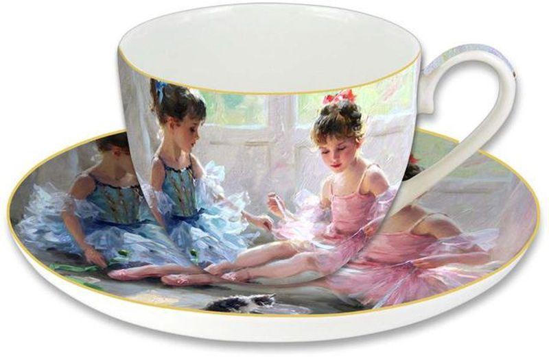 Чашка с блюдцем Carmani Балерины у окна, 280 мл53837Чашка с блюдцем 0,28л Балерины у окна, в подарочной упаковкеТорговая марка Carmani (Польша) известна с XIX века. Основатель марки, Престон Кармани, принадлежал к высшему свету Европы, известному своими прогрессивными идеями и тягой к искусству.Конкурентными преимуществами марки Carmani является высокое качество продукции и неповторимый дизайн. Процесс разработки нового предмета представляет собой сочетание традиционных методов и современных компьютерных технологий. Следует отметить, что каждая серия кружек Carmani имеет яркую индивидуальность, оригинальный дизайн и отражает разные темы, связанные с развитием и культурой человечества. Стеклянные тарелки и карманные зеркала с изображением прекрасных дам с полотен известных художников, выпускаются ограниченным тиражом и имеют коллекционную ценность.
