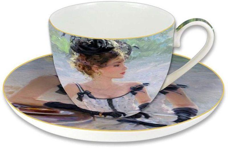 Чашка с блюдцем Carmani Утреннее чаепитие, 280 мл53843Чайная пара Carmani Утреннее чаепитие состоит из чашки и блюдца.Оригинальный дизайн, несомненно, придется вам по вкусу.Чайная параCarmani Утреннее чаепитие украсит ваш кухонный стол, а также станетзамечательным подарком к любому празднику. Следует отметить, что каждаясерия кружек Carmani имеет яркую индивидуальность, оригинальный дизайн иотражает разные темы, связанные с развитием и культурой человечества.