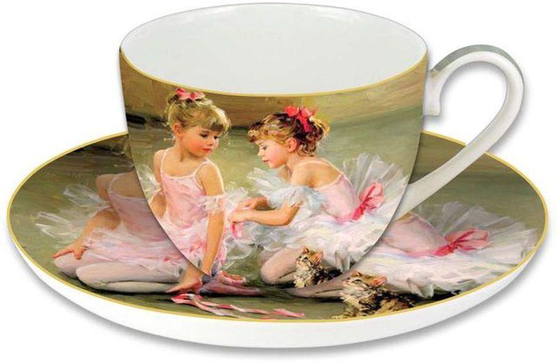 """Чашка с блюдцем Carmani """"Балерины"""" имеют яркую индивидуальность, оригинальный дизайн, в котором прослеживаются мотивы русской портретной живописи. Выполненные из тончайшего костяного фарфора, чашка и блюдце наполнят чаепитие духом творчества, аристократизма и станут прекрасным подарком к любому случаю. Торговая марка Carmani (Польша) известна с XIX века. Основатель марки, Престон Кармани, принадлежал к высшему свету Европы, известному своими прогрессивными идеями и тягой к искусству.  Конкурентными преимуществами марки Carmani является высокое качество продукции и неповторимый дизайн. Процесс разработки нового предмета представляет собой сочетание традиционных методов и современных компьютерных технологий. Объем чашки: 280 мл."""
