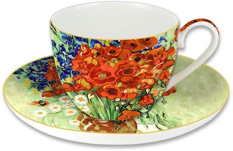 """Чайная пара Carmani """"Натюрморт с красными маками и ромашками"""" (Ван Гог) состоит из чашки и блюдца. Оригинальный дизайн, несомненно, придется вам по  вкусу. Чайная пара Carmani """"Натюрморт с красными маками и ромашками"""" (Ван  Гог) украсит ваш кухонный стол, а также станет замечательным подарком к  любому празднику. Следует отметить, что каждая серия кружек Carmani имеет яркую  индивидуальность, оригинальный дизайн и отражает разные темы, связанные с  развитием и культурой человечества."""