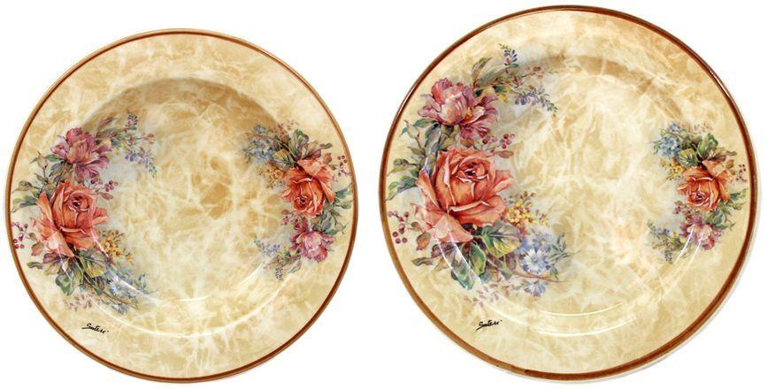 Набор тарелок LCS Элианто, 2 шт26486Набор LCS Элианто состоит из суповой и обеденной тарелок, изготовленных из высококачественной керамики. Сервировка праздничного стола таким набором станет великолепным украшением любого торжества. Диаметр суповой тарелки: 23,5 см.Диаметр обеденной тарелки: 25 см.LCS - молодая, динамично развивающаяся итальянская компания из Флоренции,производящая разнообразную керамическую посуду и изделия для украшения интерьера. В своих дизайнах LCS использует как классические, так и современные тенденции.Высокий стандарт изделий обеспечивается за счет соединения высоко технологичногопроизводства и использования ручной работы профессиональных дизайнеров ихудожников, работающих на фабрике.