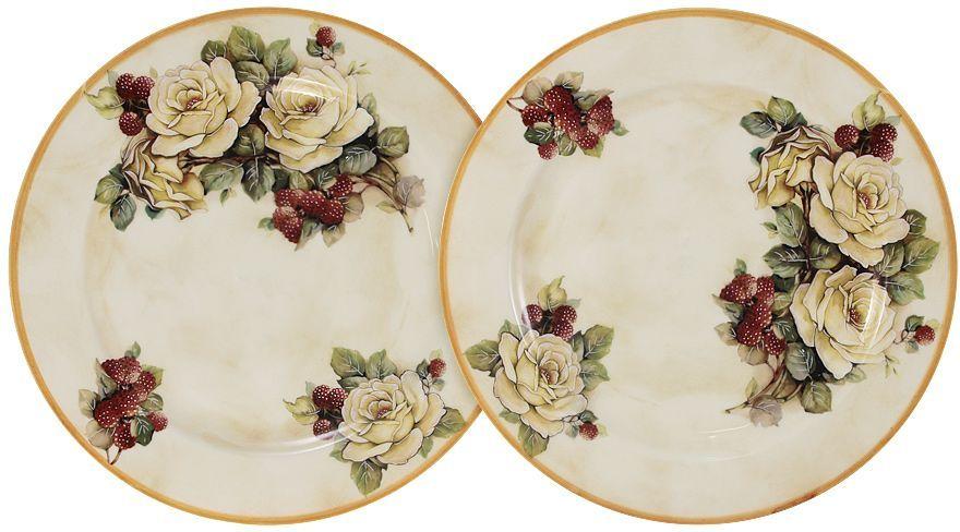 Набор десертных тарелок LCS Роза и малина, диаметр 20,5 см, 2 шт54164Набор LCS Роза и малина состоит из двух десертных тарелок, декорированных цветочным изображением. Такие тарелки прекрасно оформят стол и порадуют вас лаконичным и ярким дизайном.