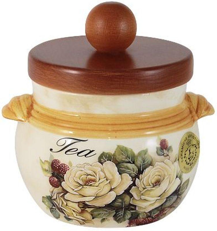 Банка для сыпучих продуктов LCS Роза и малина. Чай, 500 мл емкости неполимерные sestesi банка для сыпучих продуктов с крышкой овощи