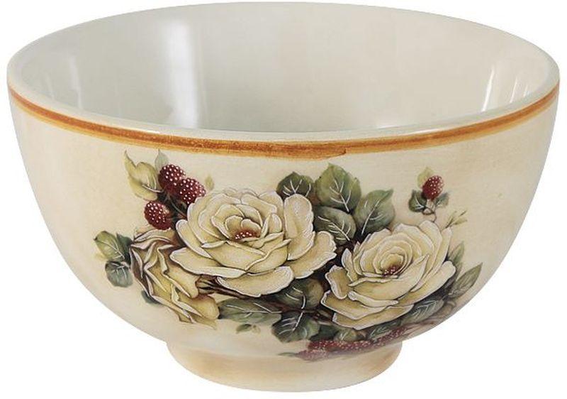 "Салатник LCS ""Роза и малина"", диаметр 14 см"