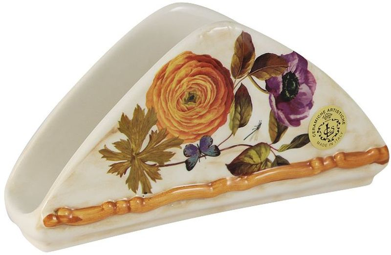 Салфетница LCS Элеганс, 21 х 11 см54153Салфетница LCS изготовлена из керамики и оформлена принтом. Такая салфетница великолепно украсит праздничный стол.