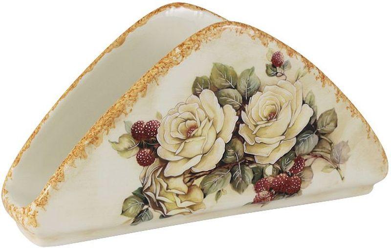 """Салфетница LCS """"Роза и малина"""", 20,5 х 11 см"""