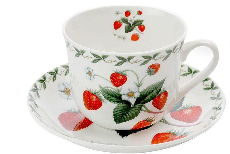 Чашка с блюдцем Maxwell & Williams Земляника, 480 мл чашка с блюдцем terracotta дерево жизни 200 мл