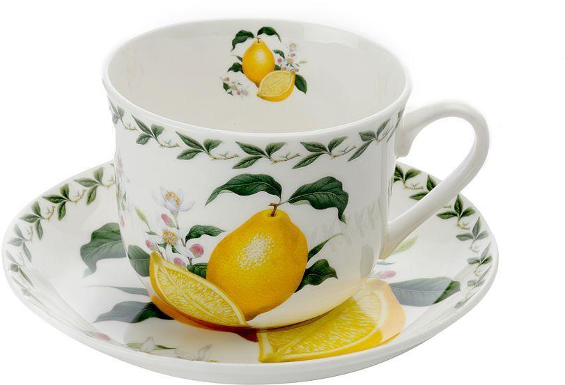 Чашка с блюдцем Maxwell & Williams Лимон, 480 мл53978Чайная пара Maxwell & Williams Лимон состоит из чашки и блюдца. Оригинальный дизайн, несомненно, придется вам по вкусу.Чайная пара Maxwell & Williams Лимон украсит ваш кухонный стол, а также станет замечательным подарком к любому празднику.