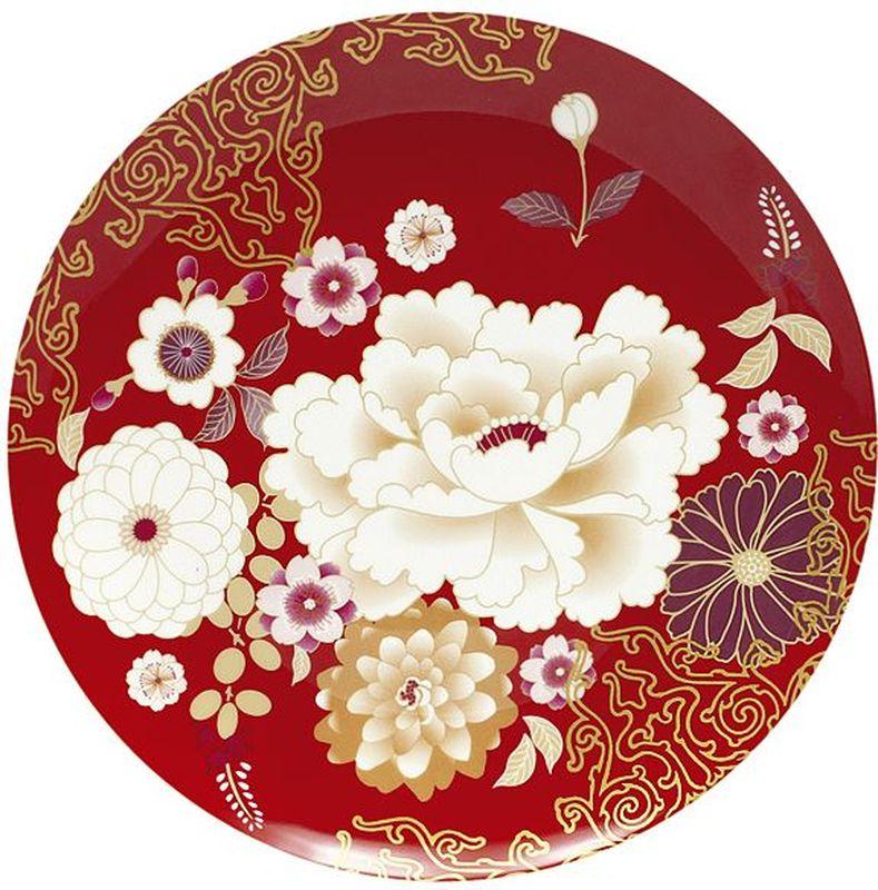 Тарелка Maxwell & Williams Кимоно, цвет: красный, диаметр 20 см54334Тарелка Maxwell & Williams Кимоно выполнена из высококачественного фарфора и имеет классическую круглую форму. Она прекрасно впишется в интерьер вашей кухни и станет достойным дополнением к кухонному инвентарю. Она подчеркнет прекрасный вкус хозяйки и станет отличным подарком.