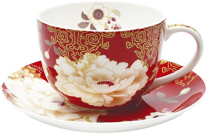 Чашка с блюдцем Maxwell & Williams Кимоно, цвет: красный, 250 мл54337Чайная пара Maxwell & Williams Кимоно состоит из чашки и блюдца. Оригинальныйдизайн, несомненно, придется вам по вкусу.Чайная пара Maxwell & WilliamsКимоно украсит ваш кухонный стол, а также станет замечательным подарком клюбому празднику.