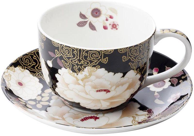 Чашка с блюдцем Maxwell & Williams Кимоно, цвет: черный, 250 мл54338Чайная пара Maxwell & Williams Кимоно состоит из чашки и блюдца. Оригинальный дизайн, несомненно, придется вам по вкусу.Чайная пара Maxwell & Williams Кимоно украсит ваш кухонный стол, а также станет замечательным подарком к любому празднику.