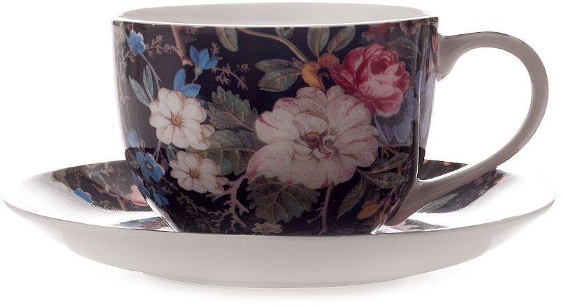 Чашка с блюдцем Maxwell & Williams Полночные цветы, 250 мл чашка с блюдцем terracotta дерево жизни 200 мл