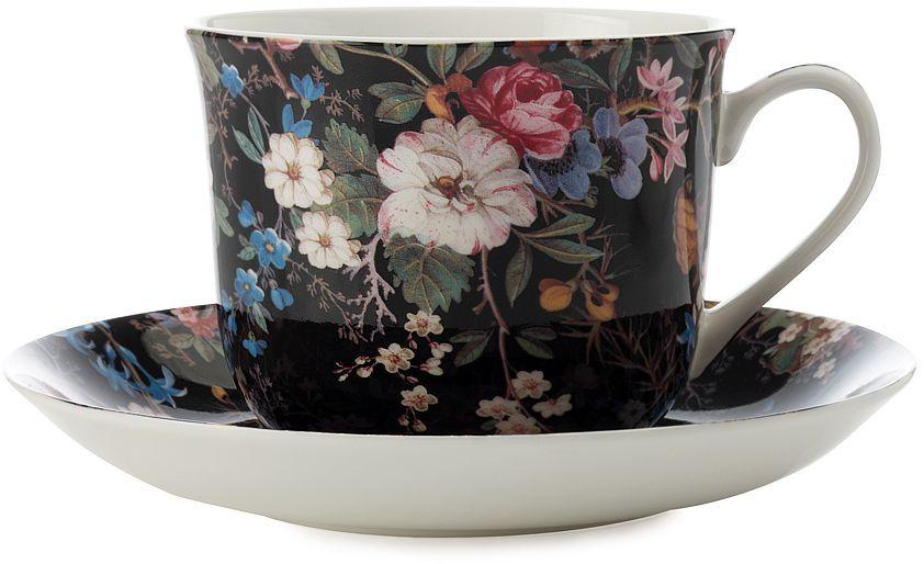 Чашка с блюдцем Maxwell & Williams Полночные цветы, 480 мл730648Чайная пара Maxwell & Williams Полночные цветы состоит из чашки и блюдца.Оригинальный дизайн, несомненно, придется вам по вкусу.Чайная параMaxwell & Williams Полночные цветы украсит ваш кухонный стол, а также станетзамечательным подарком к любому празднику.