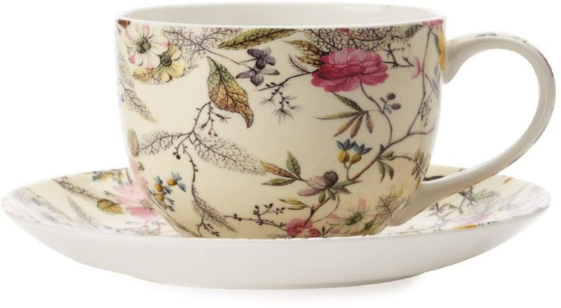 Чашка с блюдцем Maxwell & Williams Летние цветы, 250 мл чашка с блюдцем terracotta дерево жизни 200 мл