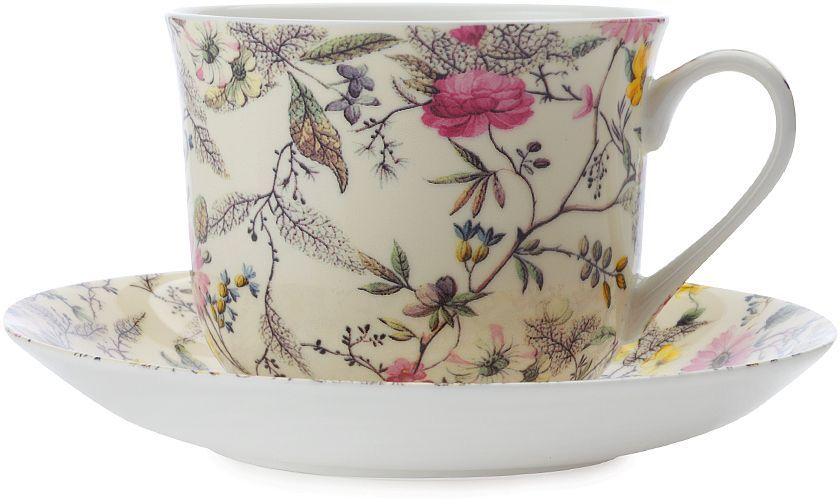 """Чайная пара Maxwell & Williams """"Летние цветы"""" состоит из чашки и блюдца.  Оригинальный дизайн, несомненно, придется вам по вкусу.Чайная пара  Maxwell & Williams """"Летние цветы"""" украсит ваш кухонный стол, а также станет  замечательным подарком к любому празднику."""
