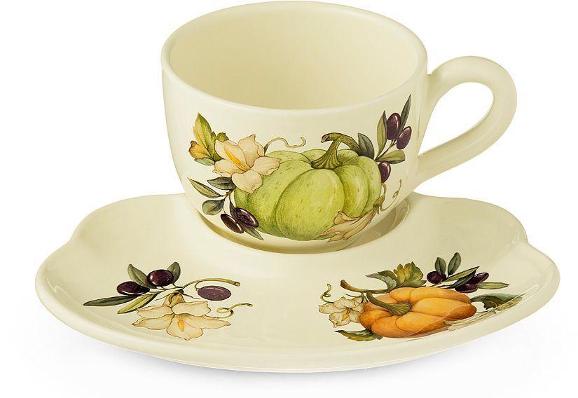 Чашка на блюдце-подносе Nuova Cer Тыква, 500 мл54223Чашка на блюдце-подносе Nuova Cer Тыква украсит ваш кухонный стол, а также станет замечательным подарком к любому празднику.