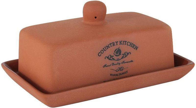 """Великолепная масленка Terracotta, выполненная из высококачественной керамики, предназначена для красивой сервировки и хранения масла. Она состоит из подноса и крышки. Масло в ней долго остается свежим, а при хранении в холодильнике не впитывает посторонние запахи.  Масленка Terracotta идеально подойдет для сервировки стола и станет отличным подарком к любому празднику.  Торговая марка """"Terracotta"""" - это коллекции разнообразной посуды для сервировки стола, хранения продуктов и приготовления пищи из жаропрочной керамики, покрытой высококачественной глазурью.  Изделия """"Terracotta"""" идеально подходят для выпечки, приготовления различных блюд и разогревания пищи в духовом шкафу или микроволновой печи. Может использоваться для хранения продуктов, в том числе в холодильнике. При приготовлении или охлаждении пищи рекомендуется использовать постепенный нагрев или охлаждение.  Посуда торговой марки """"Terracotta"""" совмещает в себе современные технологии и новые идеи, благодаря чему достигаются высокое качество, разнообразие форм и дизайнов.  Размер лотка: 18,5 х 12 х 2 см.  Размер крышки: 15,7 х 9,2 х 8 см."""