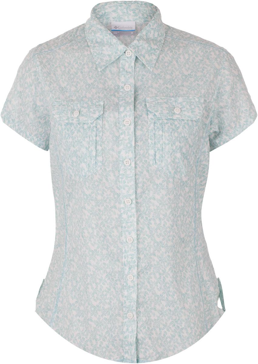 Рубашка женская Columbia Camp Henry SS, цвет: голубой, белый. 1450311-341. Размер S (44) henry vi actors on shakespeare s