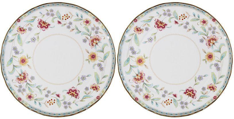 Набор десертных тарелок Colombo Грейс, диаметр 20,5 см, 2 шт46118Набор Colombo HD Грейс состоит из двух десертныхтарелок, изготовленных из высококачественного костяногофарфора.Яркий дизайн изделий, несомненно, придется вам по вкусу.Набор Colombo HD Грейс украсит ваш кухонный стол, атакже станет замечательным подарком к любому празднику.Рекомендуется мыть в теплой воде с применением мягкихмоющих средств.Диаметр (по верхнему краю): 20,5 см.
