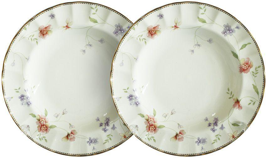 Набор суповых тарелок Colombo Флер, диаметр 23 см, 2 шт44871Набор Colombo HD Флер состоит из двух суповыхтарелок, выполненных из высококачественного костяного фарфора. Изделиядекорированы изображениями цветов. Тарелки имеют круглую форму.Такой набор украсит сервировку стола и порадует вас изящнымдизайном. Диаметр: 23 см.