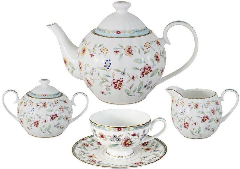 Сервиз чайный Colombo Грейс, 15 предметов46115Чайный сервиз Colombo Грейс состоит из 15 предметов и рассчитан на 6 персон: 6 чашек- 210 мл, 6 блюдец, чайник- 1200 мл, сахарница- 400 мл, молочник- 360 мл. Посуда для чая и сервировки стола торговой марки Colombo изготовлена из костяного фарфора. Высокое качество изделий достигается благодаря использованию новейших технологий при изготовлении посуды, а также строгому контролю на всех этапах производственного процесса на фабрике.Рекомендуется мыть в теплой воде с применением мягких моющих средств