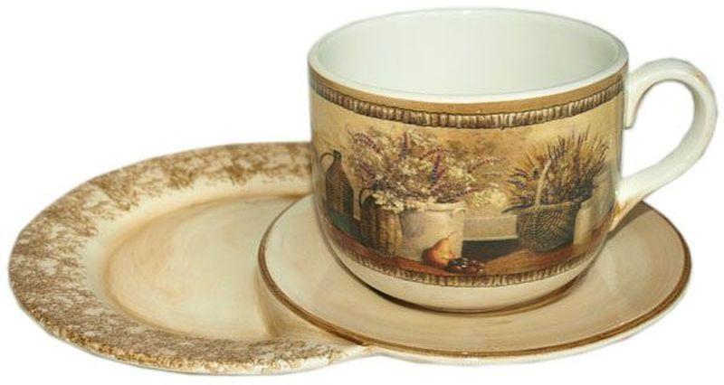 Чашка на маленьком подносе LCS Натюрморт, 500 мл04C1208-AMЧашка на маленьком подносе LCS Натюрморт украсит ваш кухонный стол, а такжестанет замечательным подарком к любому празднику.