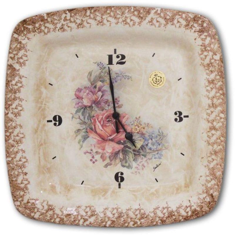 Настенные часы LCS Элианто26473Настенные кварцевые часы LCS Элианто изящно украсят интерьер дома или офиса.Корпус часов, выполненный из керамики в виде квадратной тарелки, оформлен красочным цветочным изображением. Часы оснащены тремя фигурными стрелками - часовой, минутной и секундной. Часы работают от одной батарейки типа АА мощностью 1,5V (в комплект не входит).