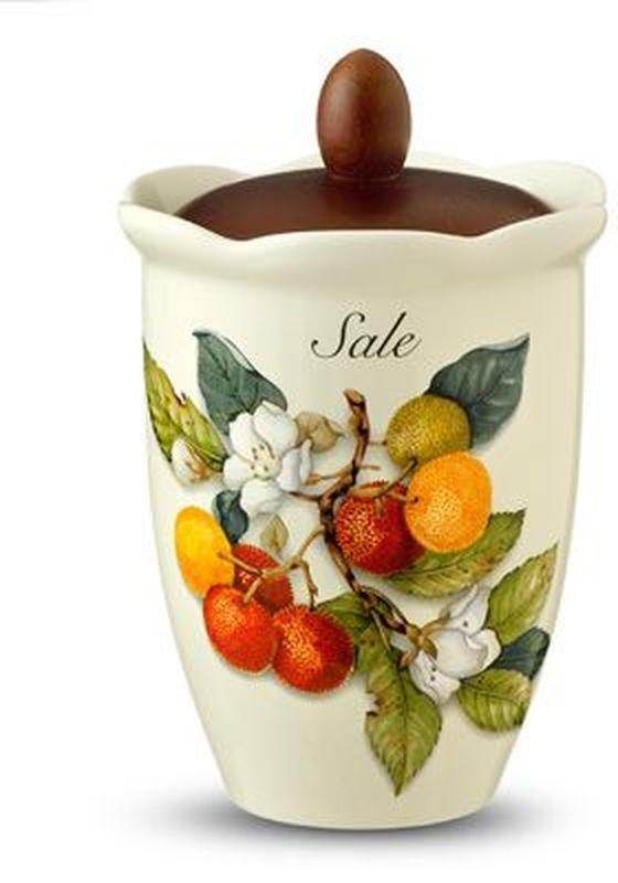 Банка для сыпучих продуктов Nuova Cer Итальянские фрукты. Соль, 800 мл банка для сыпучих продуктов zibo shelley итальянские мотивы 350 мл
