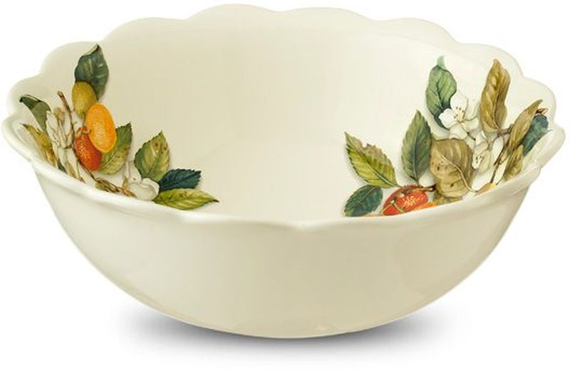 Салатник Nuova Cer Итальянские фрукты, диаметр 26 см чайник заварочный nuova cer итальянские фрукты 1 л