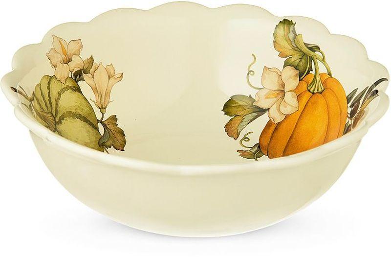 Салатник Nuova Cer Тыква, диаметр 26 см54215Салатник Nuova Cer Тыква, изготовленный из высококачественной керамики, прекрасно подойдет для подачи различных блюд: закусок, салатов или фруктов. Такой салатник украсит ваш праздничный или обеденный стол. Компания Nuova Сer была основана в 1992 году по инициативе итальянского дизайнера Cav. Primo Cerbella. Фабрика расположена в Умбритиде - маленькой деревне в зеленом центре Италии - Умбрии. Декорам торговой марки Nuova Сer присущи теплые оттенки и верность истинно итальянскому стилю, для которого характерным является довольно толстая, нарочито простая керамическая посуда с красочной, яркой глазурью, с наивной росписью и орнаментами. Ее с легкостью можно подобрать в тон интерьеру кухни. Такую посуду можно использовать в микроволновой печи и мыть в посудомоечной машине.