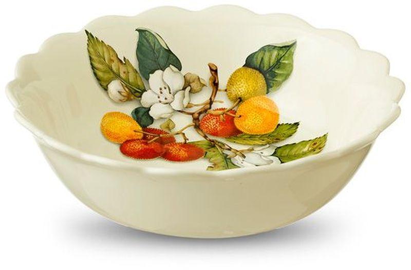 Тарелка суповая Nuova Cer Итальянские фрукты, диаметр 20,5 см34084Суповая тарелка Nuova Cer выполнена из керамики с красочной, яркой глазурью. Тарелка отлично подойдет для сервировки стола.Можно использовать в микроволновой печи и мыть в посудомоечной машине.Диаметр: 20,5 см.
