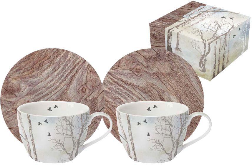 Набор кофейный Nuova R2S Природа, 4 предмета набор кофейный nuova r2s цветочный карнавал цвет черный 4 предмета r2s1353 blob al
