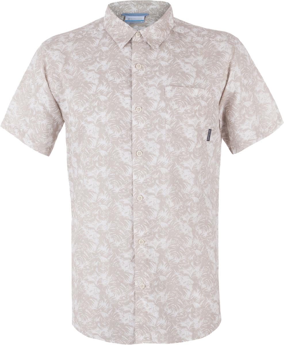 Рубашка мужская Columbia Under Exposure II SS, цвет: бежевый. 1577751-023. Размер S (44/46)