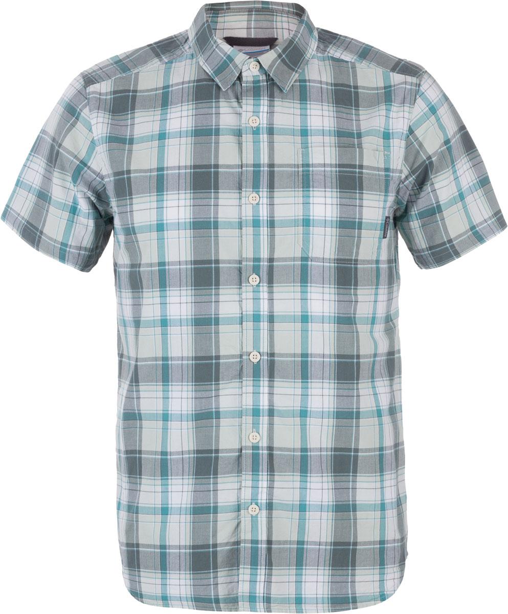 Рубашка мужская Columbia Thompson Hill II Yarn Dye, цвет: зеленый, серый. 1577656-967. Размер S (44/46)